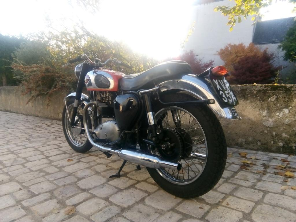 Moto Anglaise BSA A10 1958 Super Rocket