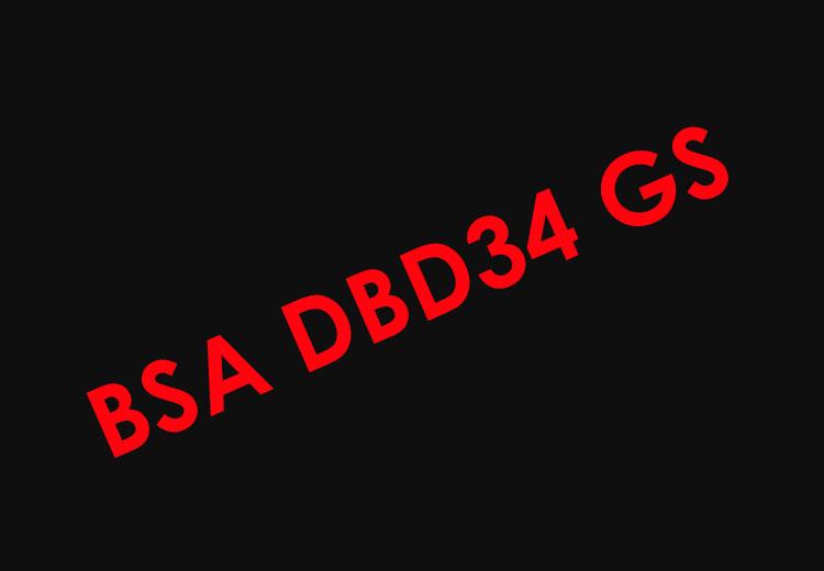 BSA DBD34 - 1960